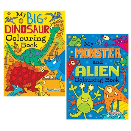 A4 COLOURING BOOK - MONSTERS/ DINOSAURS