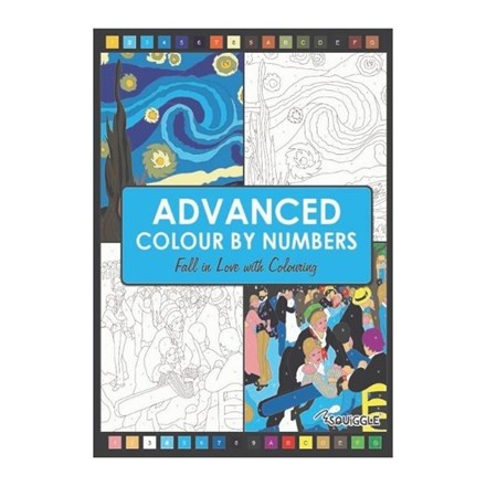 SQUIGGLE - ADVANCED COLOUR BY NUMBERS BOOK