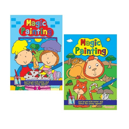 SQUIGGLE - A4 MAGIC PAINTING BOOK - 2ASST