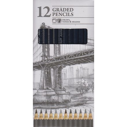 CHILTERN WOVE GRADED PENCILS - 12 PACK