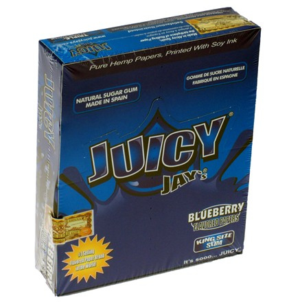 KING SIZE PAPERS JUICY JAY BLUEBERRY - 24 PACK