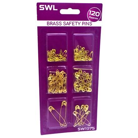 SWL - BRASS SAFETY PINS - 120PCS