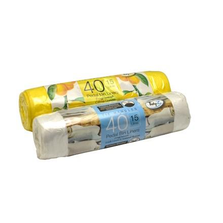 TIDYZ - PEDAL BIN LINERS 15L - 40 PACK
