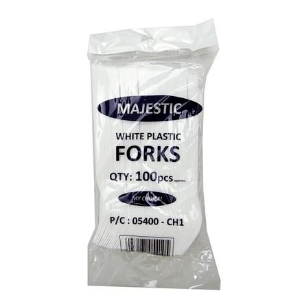 MAJESTIC - PLASTIC FORKS - 100 PACK