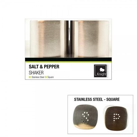 KNIGHT - SALT & PEPPER SHAKER STAINLESS STEEL