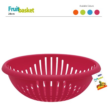 EDGO - FRUIT BASKET 28CM ASSORTED COLOURS