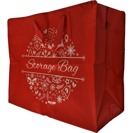 JUMBO WOVEN CHRISTMAS STORAGE BAG