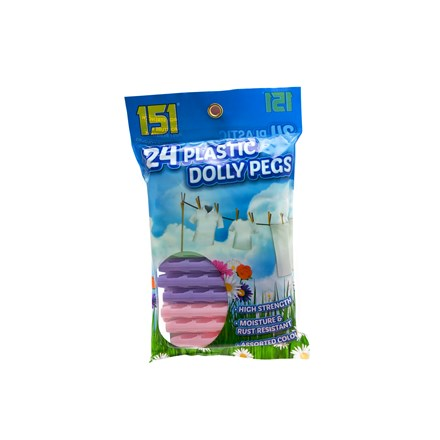 151 - PLASTIC DOLLY PEGS - 24 PACK