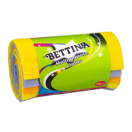 BETTINA - MULTIPURPOSE CLOTHS - 10 PACK