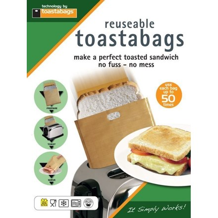 TOASTABAGS - REAUSABLE TOASTER BAGS - 2 PACK