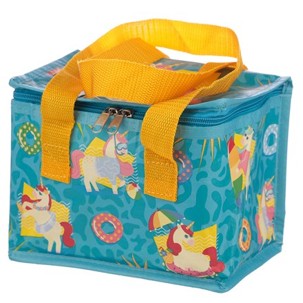 WOVEN INSULATED LUNCH BAG - TROPICAL UNICORN