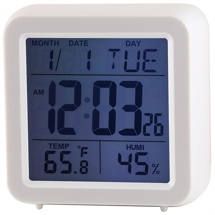 RAVEL - DIGITAL ALARM CLOCK - WHITE