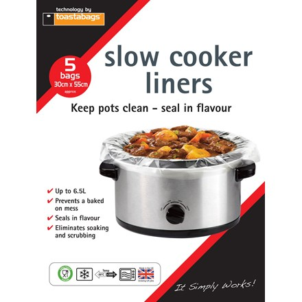 TOASTABAGS - SLOW COOKER LINER - 5 PACK
