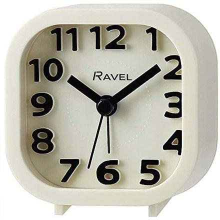 RAVEL - MINI MOULDED ALARM CLOCK - WHITE