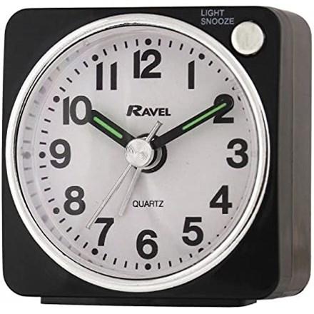RAVEL - MINI ALARM CLOCK - BLACK/SILVER