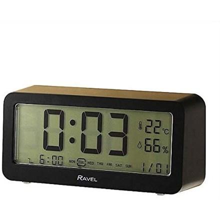 RAVEL - DIGITAL BEDSIDE CLOCK - BLACK