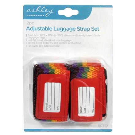 ASHLEY - LUGGAGE STRAP SET - 2 PACK