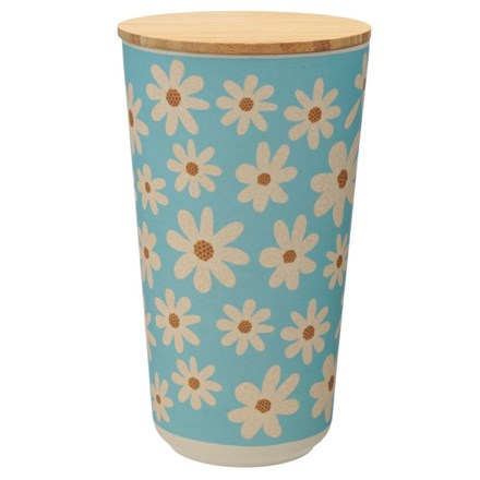 BAMBOO CANISTER - OOPSIE DAISY - LARGE