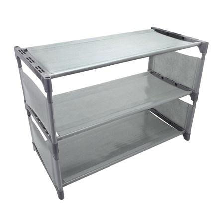 COUNTRY CLUB - 3 TIER SHOE RACK - GREY