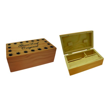 MEDIUM WOODEN ROLL BOX