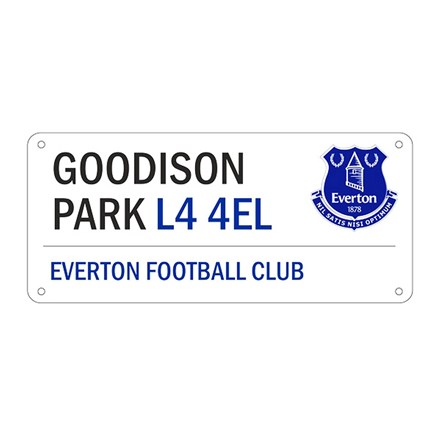 EVERTON FOOTBALL CLUB STREET SIGN