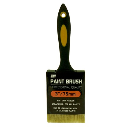 "SWL - PAINT BRUSH 3"" RUBBER HANDLE PROFESSION"