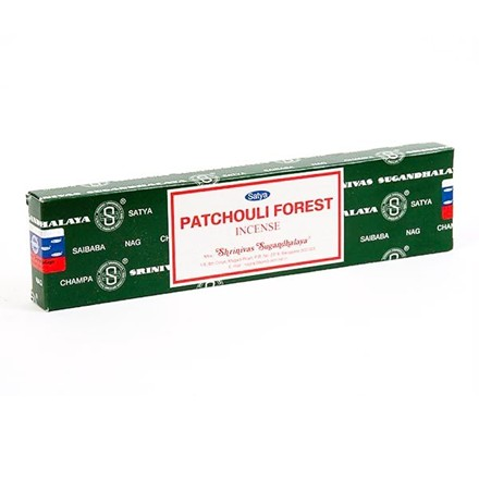 SATYA - PATCHOULI FOREST INCENSE STICKS - 12 PACK
