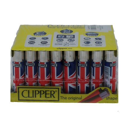 CLIPPER CLASSIC FLINT - UNION JACK - 40 PACK