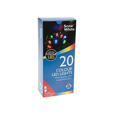 20 LED LIGHTS - MULTI-COLOURED