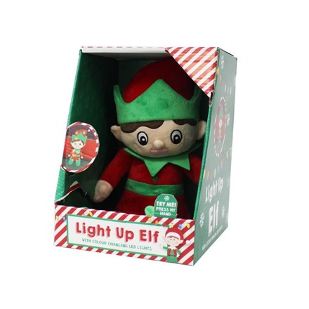 LIGHT UP PLUSH ELF