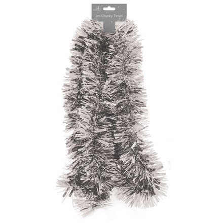 CHUNKY TINSEL SILVER 2M