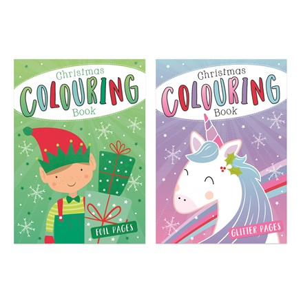 CHRISTMAS COLOURING BOOK - 2 ASSORTED