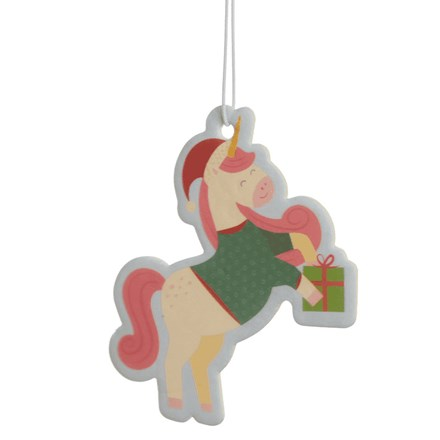 CAR AIR FRESHENER - CHRISTMAS UNICORN COOKIE AIR