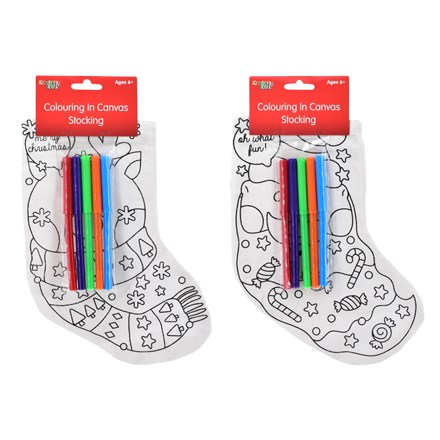 COLOUR YOUR OWN CHRISTMAS STOCKING - 2ASST