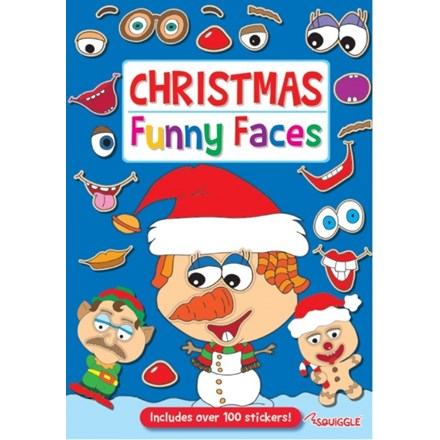 CHRISTMAS STICKER BOOK - FUNNY FACES