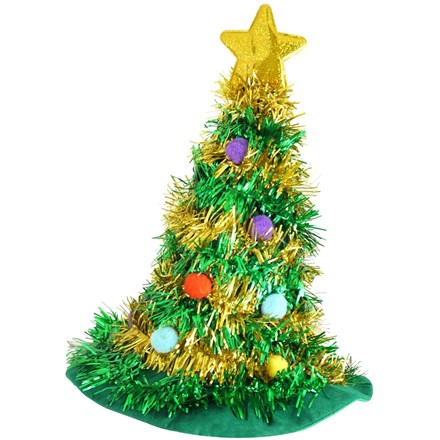 ADULT HAT CHRISTMAS TREE WITH STAR