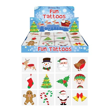 12PC CHRISTMAS TATTOOS