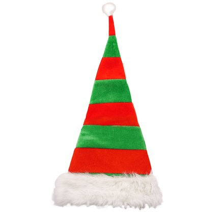 CHRISTMAS HAT RED & GREEN STRIPED