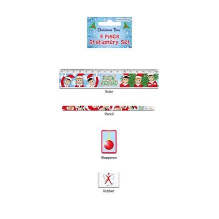 CHRISTMAS STATIONERY SET - ELFIN' AROUND - 4 PACK