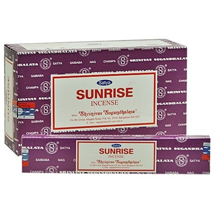 SATYA - SUNRISE INCENSE STICKS - 15G X 12 PACK