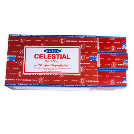 SATYA - CELESTIAL INCENSE STICKS - 15G X 12 PACK