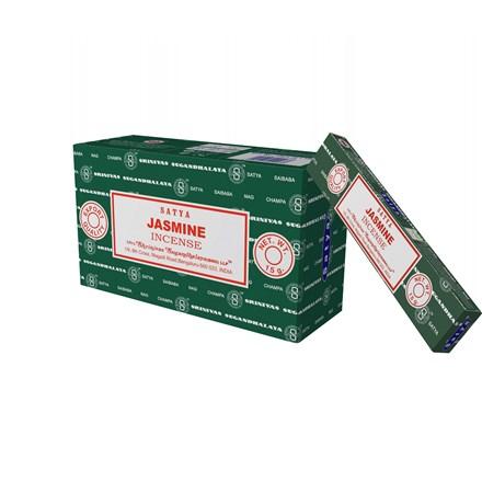 SATYA - JASMINE INCENSE STICKS - 15G X 12 PACK