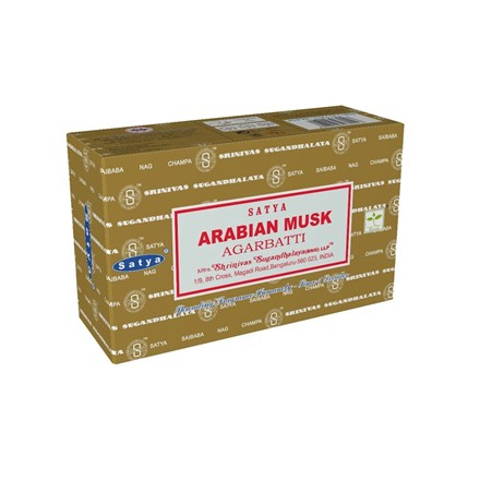 SATYA - ARABIAN MUSK INCENSE STICKS - 12 PACK