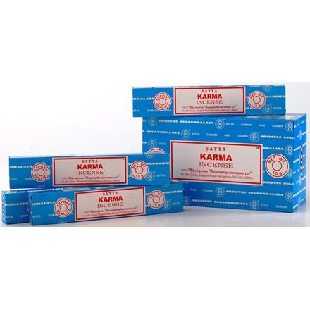 SATYA - KARMA INCENSE STICKS - 15G X 12 PACK