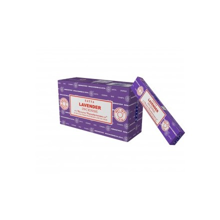 SATYA - LAVENDER INCENSE STICKS - 15G X 12 PACK