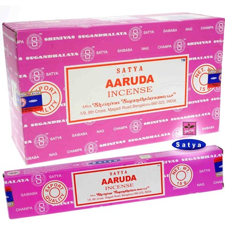 SATYA - AARUDA INCENSE STICKS - 15G X 12 PACK