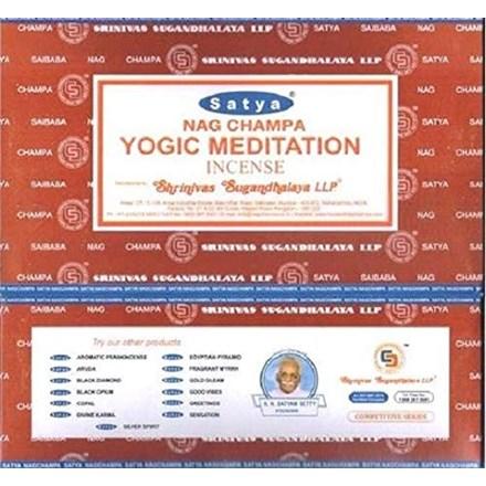 SATYA-YOGIC MEDITATION INCENSE STICKS-15G X 12PACK
