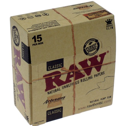 RAW ARTESANO KING SIZE PAPER + TIPS - 15 PACK