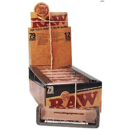 RAW REGULAR ROLLING MACHINE 79MM - 12 PACK