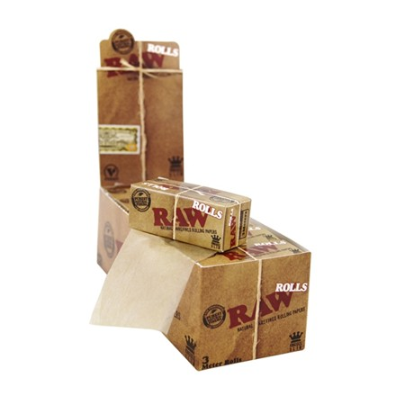 RAW ROLLS KING SIZE 3M - 12 PACK